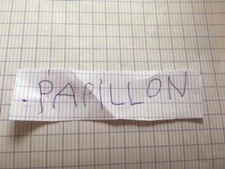 Manuel (GS) - écriture en lettres capitales du mot papillon