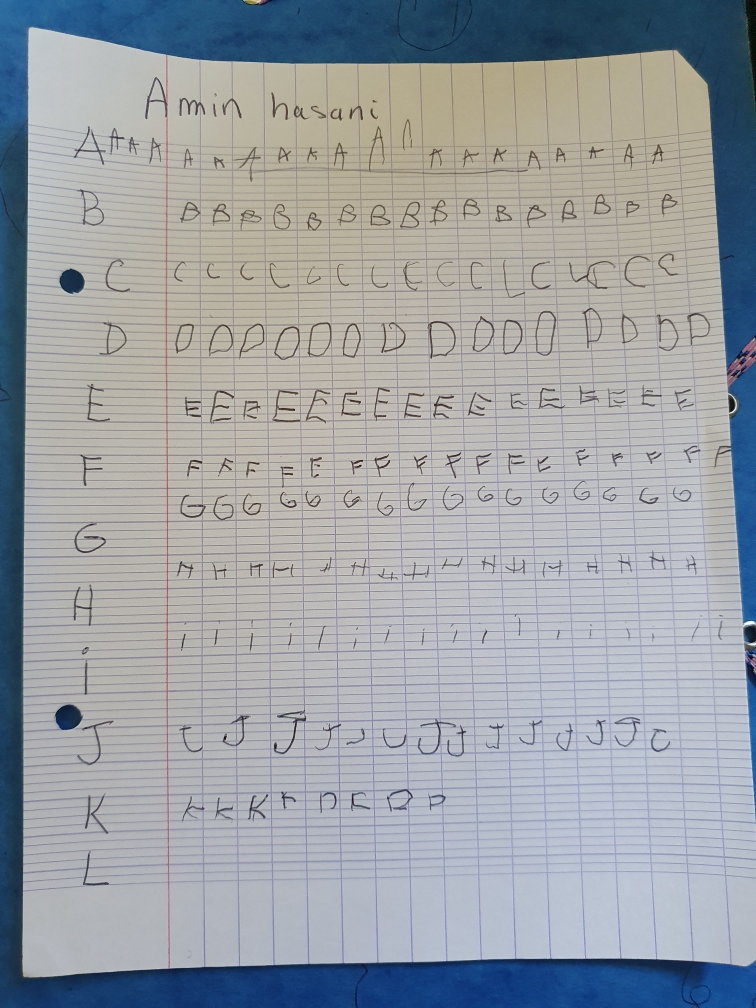 Amin (GS) - copie lettres de l'alphabet