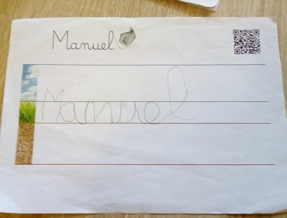 Manuel (GS) - Ecriture du prénom