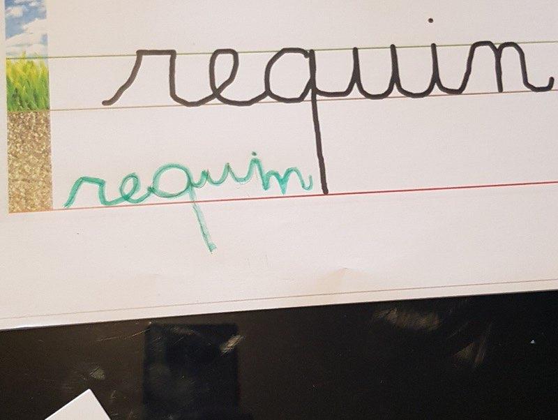 Liana (GS) - copier un mot écriture cursive