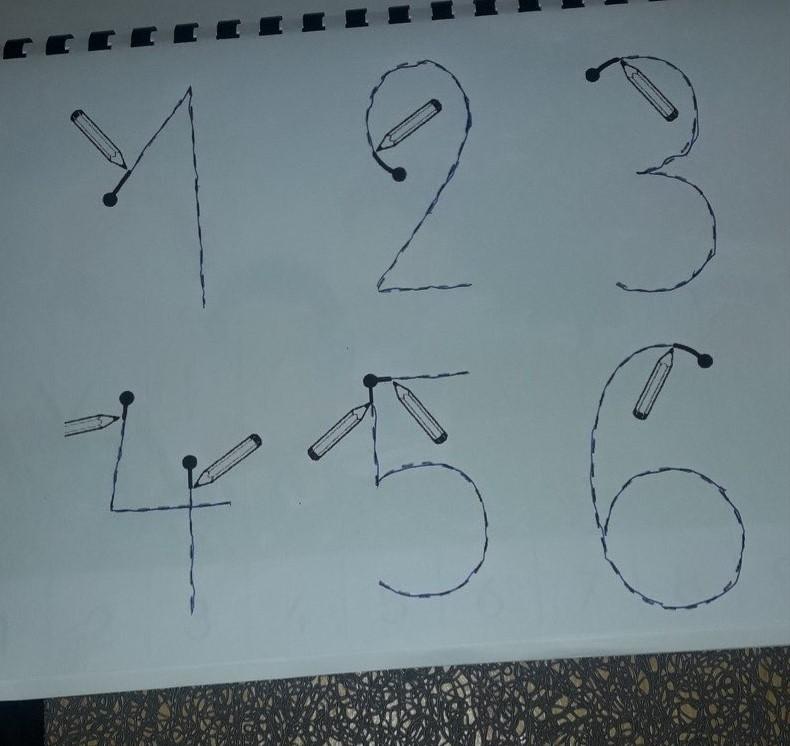Zineb (GS) - écriture des chiffres